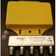 GOLDEN MEDIA DiSEqC SWITCH 4/1