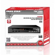 PACO COMBO TSC1260 - HD ЕФИРЕН ПРИЕМНИК DVB-T/T2 + КАБЕЛЕН DVB-C + САТЕЛИТЕН ПРИЕМНИК S/S2