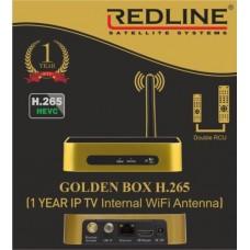 REDLINE GOLDEN BOX H.265 HEVC - САТЕЛИТЕН ПРИЕМНИК + IPTV